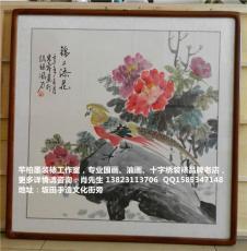 深圳廠家現場裝裱國畫油畫裝飾畫木板畫