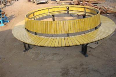 广场防腐木围树椅 山樟木圆形靠背座椅