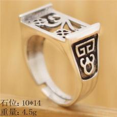 厂家直销加工手工925银饰戒指托 来图定制