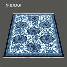 仿古羊毛地毯厂家直供手工羊毛地毯