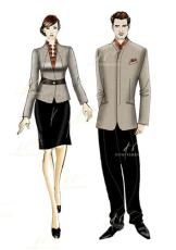 酒店前台餐饮预订人员特色服装设计价格合理