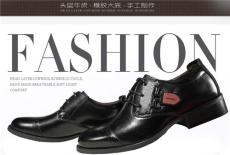 斯帝蘭新款男式商務頭層牛皮系帶鞋